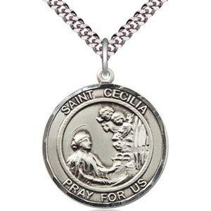 Sterling Silver St Cecilia Pendant